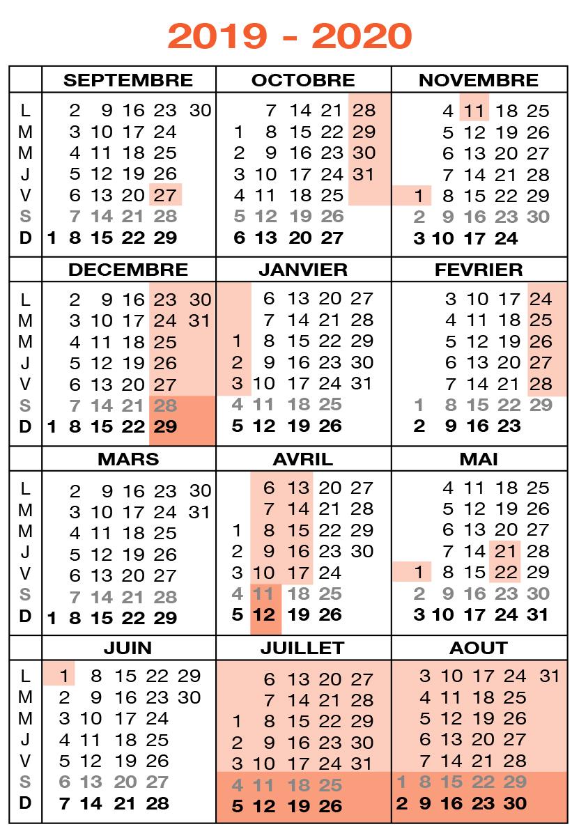Calendrier Des Vacances Scolaires 2020 2019.Cgsp Enseignement